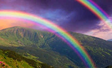 Colorful Clouds Rainbow Photo