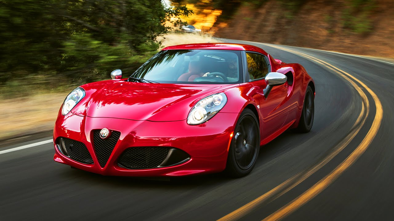 Red Car Alfa Romeo 4C