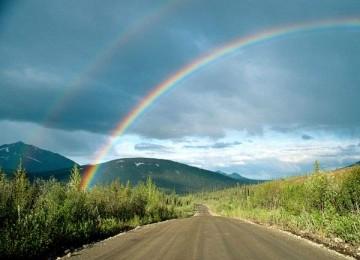 Widescreen Rainbow Photo