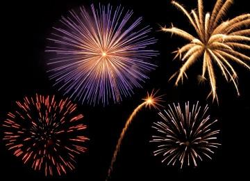 3D Fireworks Photos