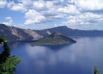 Cloudy Weather Lake Photo
