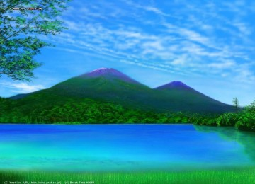 Mountain Landscape Scene