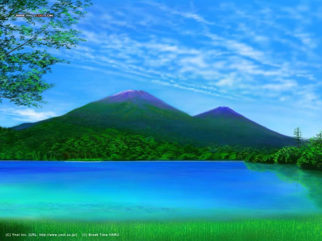 Landscape Scene Background 1024x768
