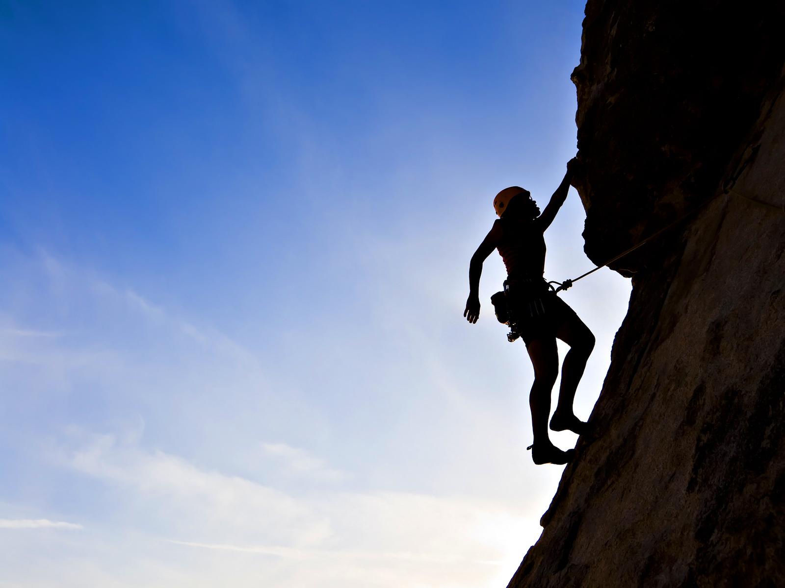 Rock Climbing Desktop Image