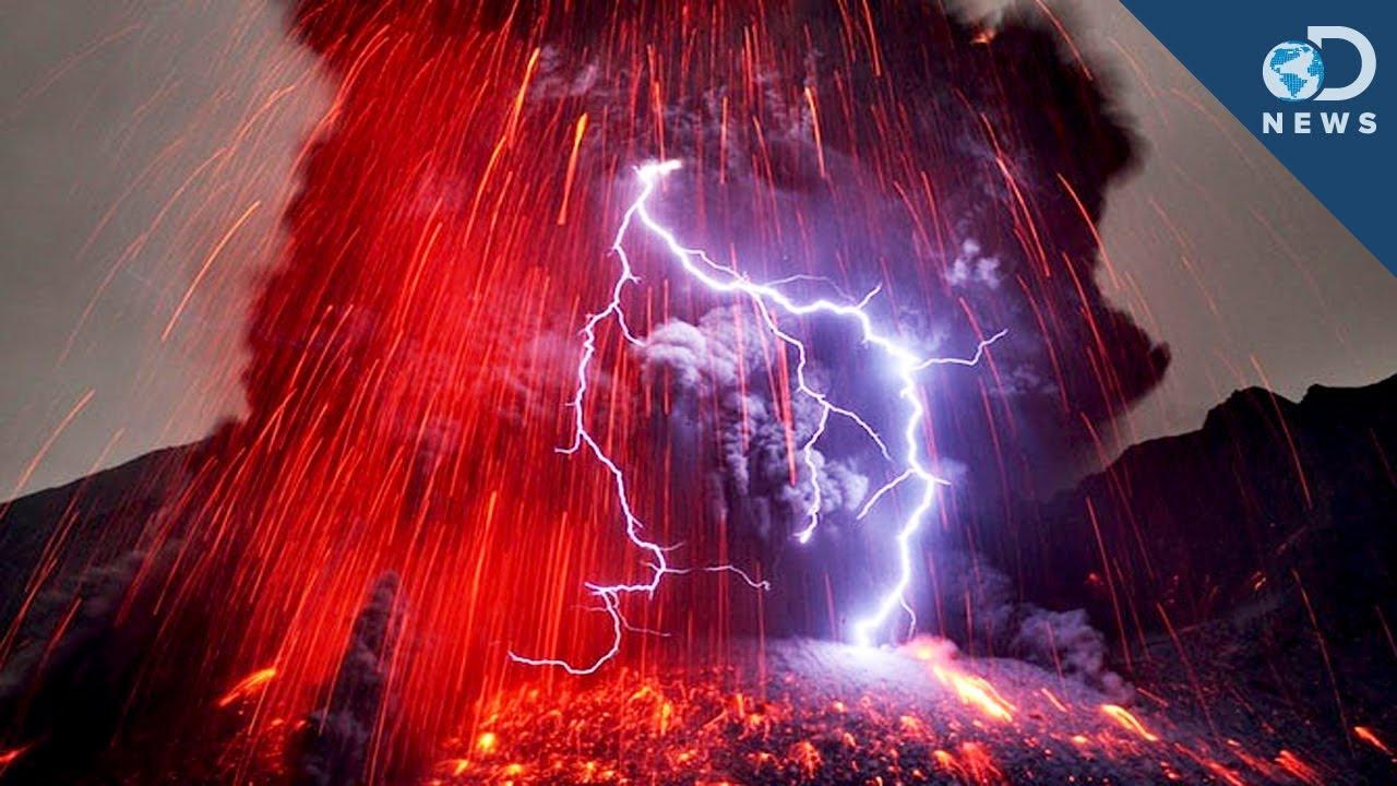HD Volcano Lightning
