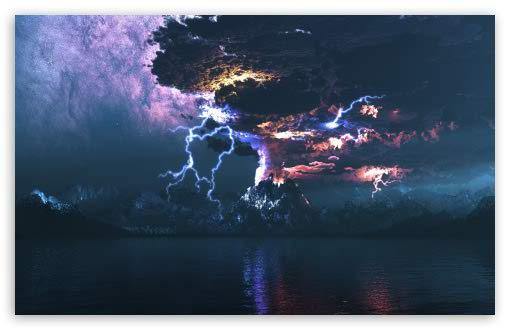 Stunning Volcano Lightning