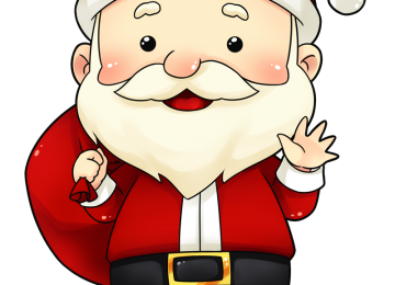 Transparent Santa