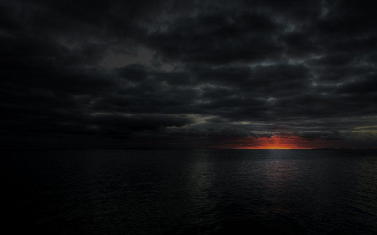 Dark Sunset Image, Black Dark Sunset, 1280x800, #9404