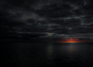 Black Dark Sunset