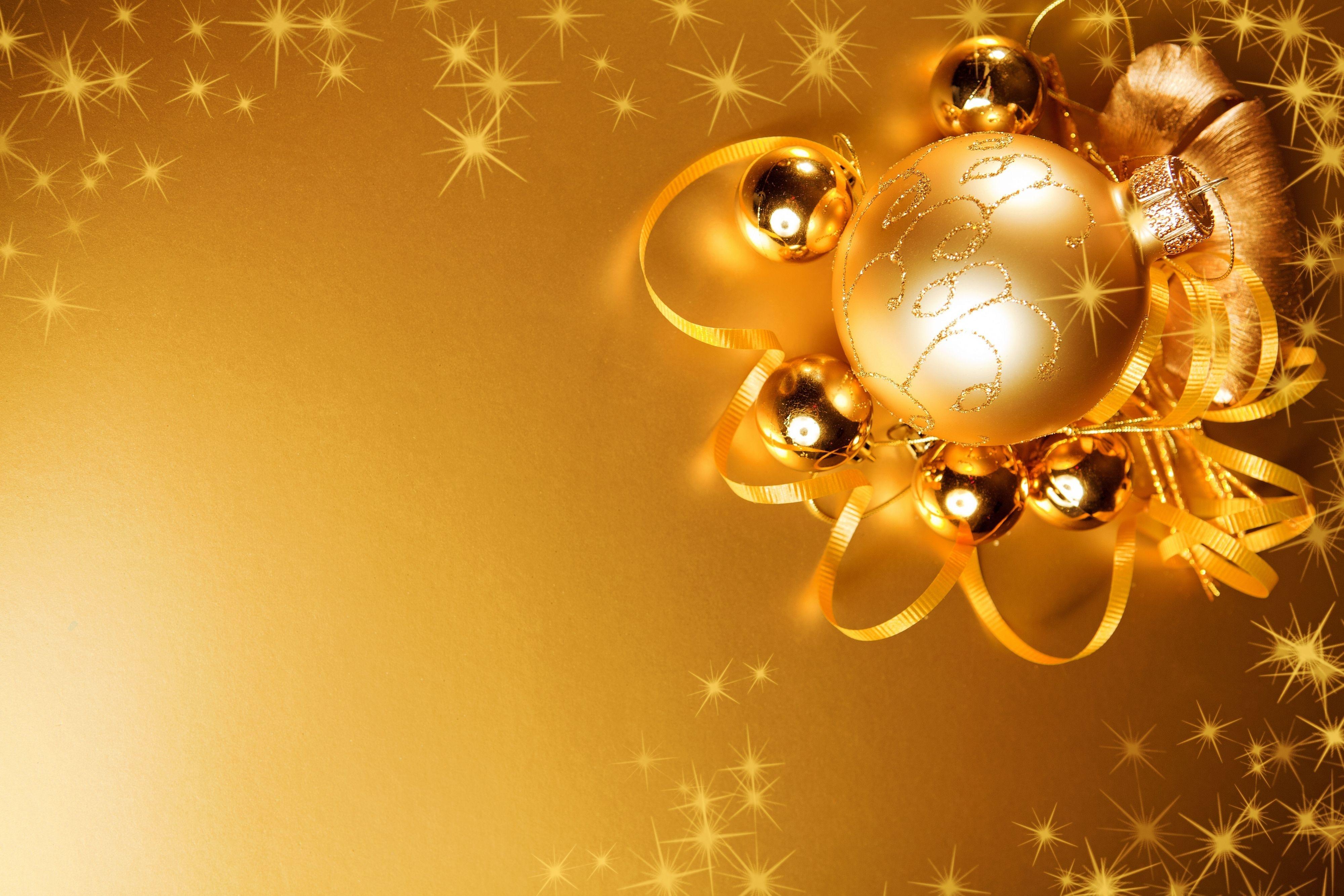 Yellow New Year Background