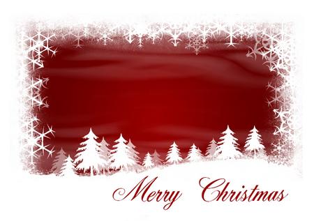 Snow Flakes Christmas Card