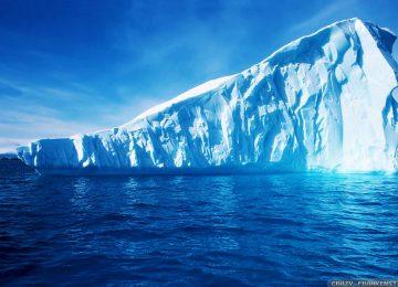Blue Water Iceberg Wallpaper