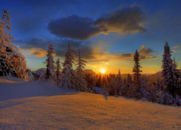 Cloudy Weather Winter Sunrise