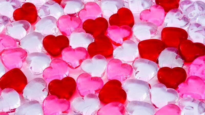 Colorful Hearts Love Wallpaper