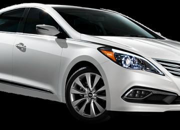 White Hyundai Azera