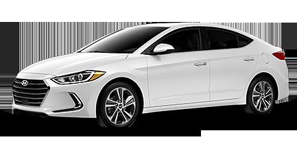 White Hyundai Elantra