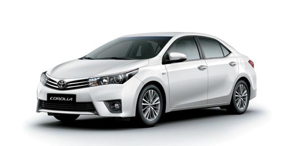White Toyota Corolla