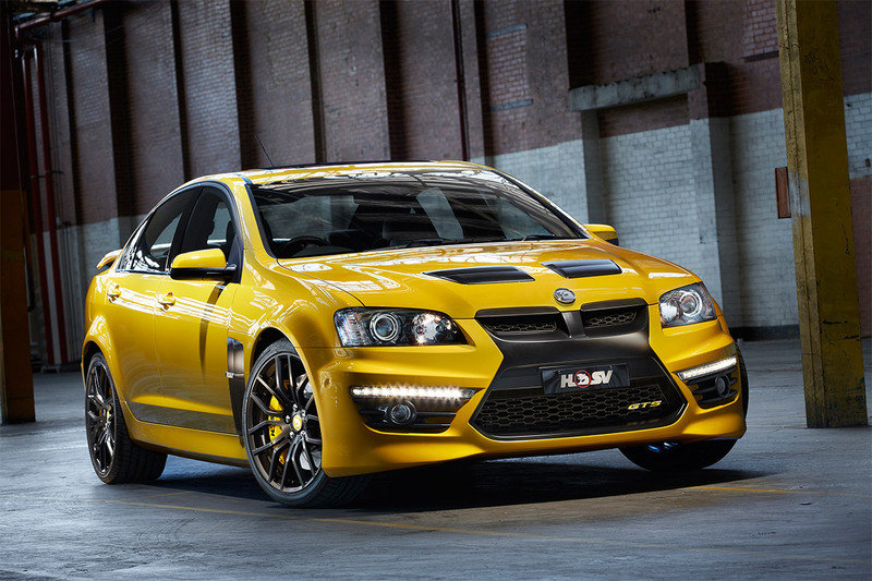 Yellow Holden GTS