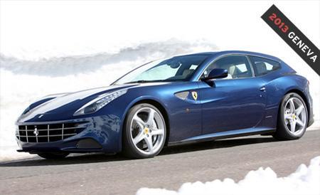 Blue Ferrari FF