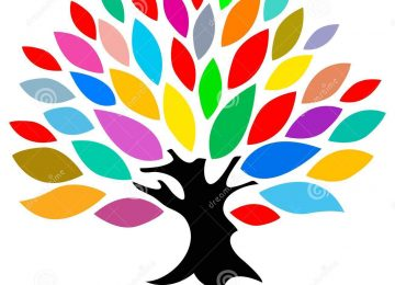 Art Colourful Tree