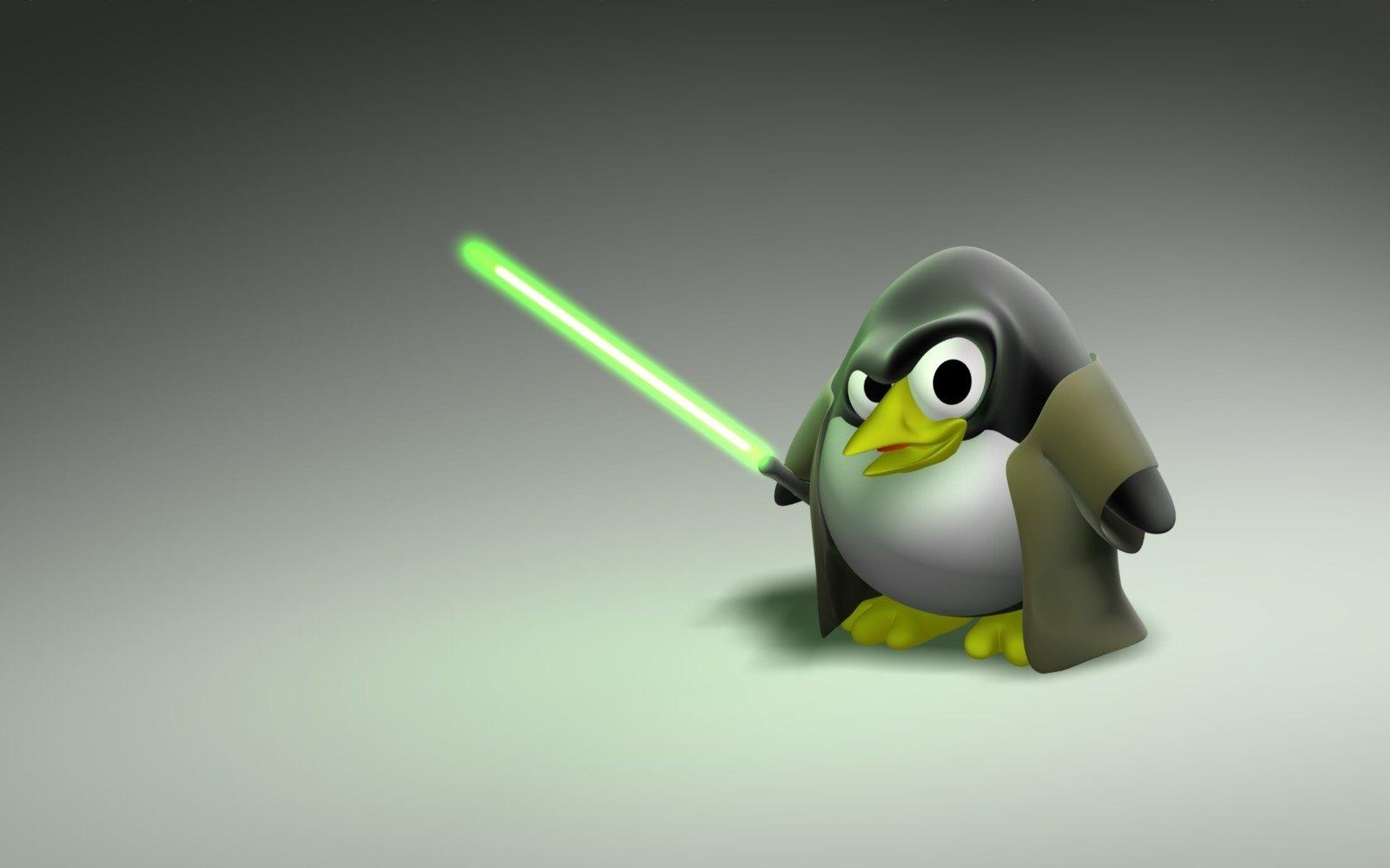 Cartoon Linux Wallpaper