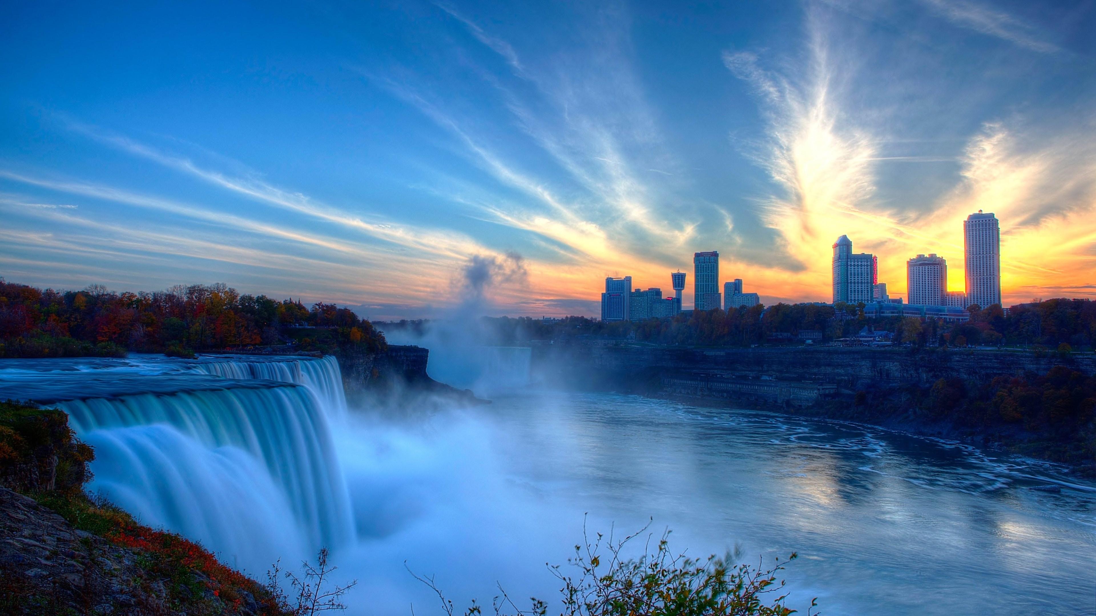 Sunset Niagara Falls Wallpaper