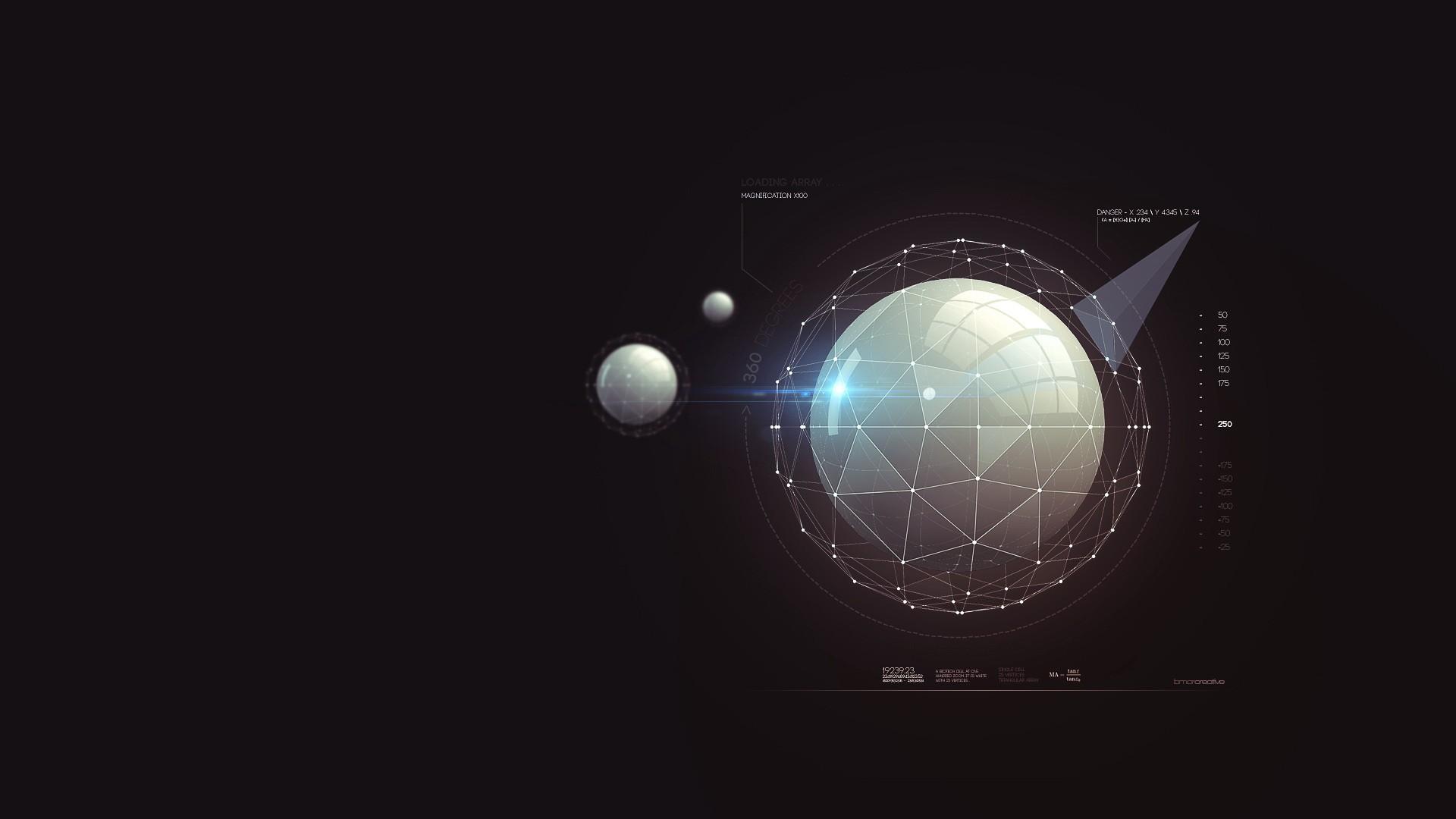 Digital Sphere Wallpaper