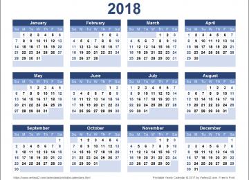 Top Calendar 2018
