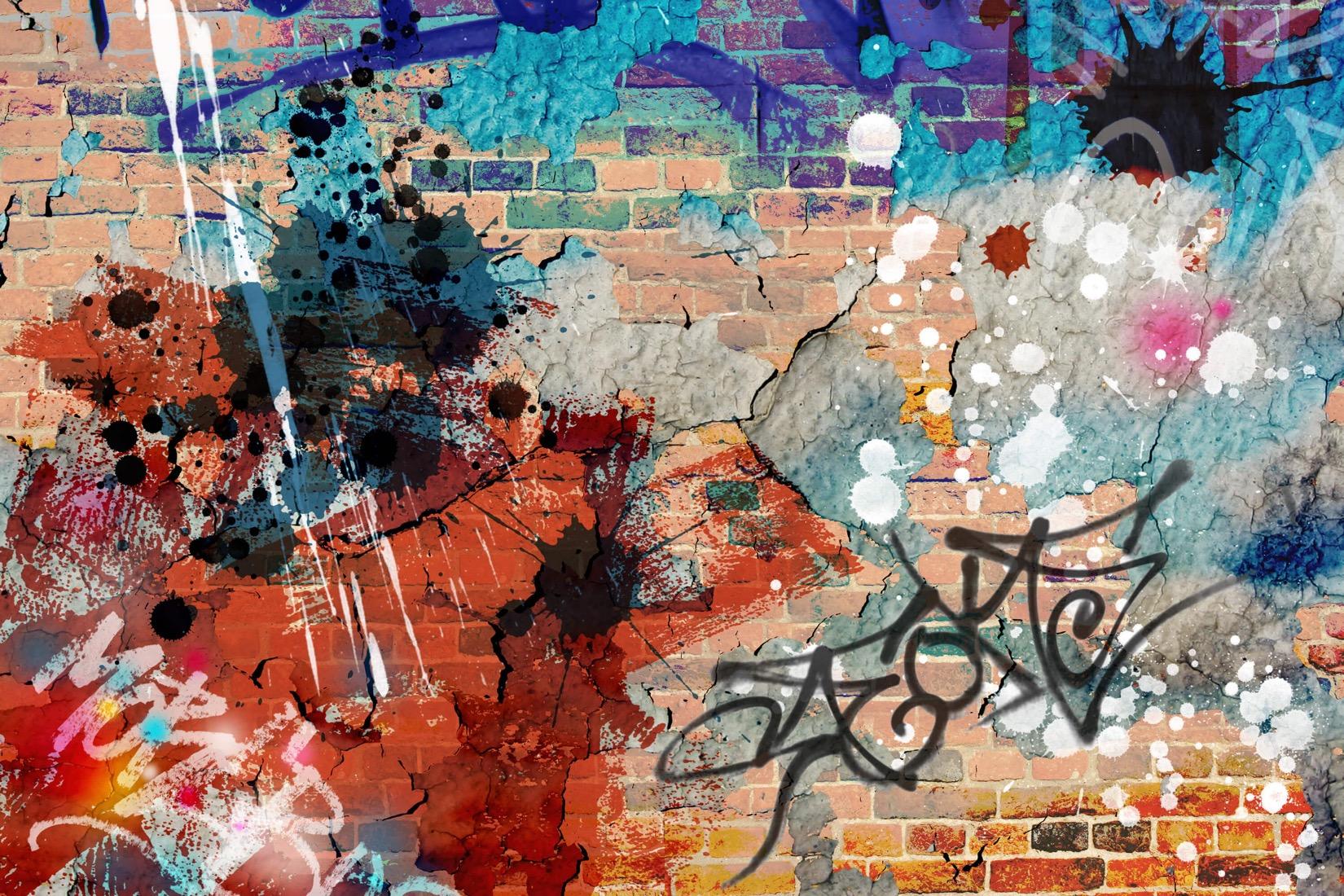 Grunge graffiti image