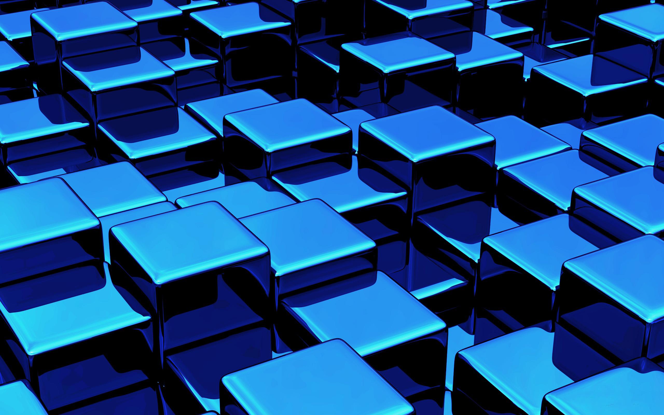 Blue Cube Wallpaper