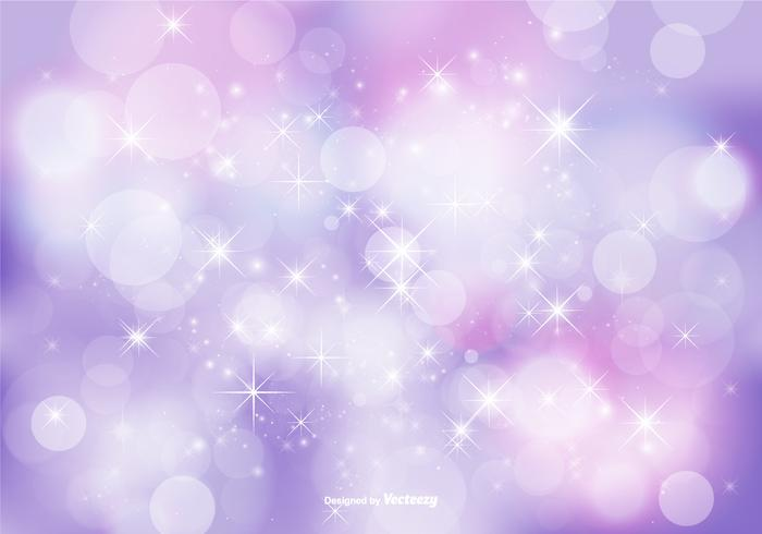 Floral Glitter Background