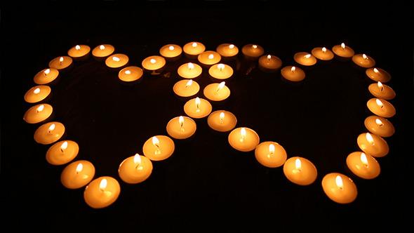 Nice Heart Candle