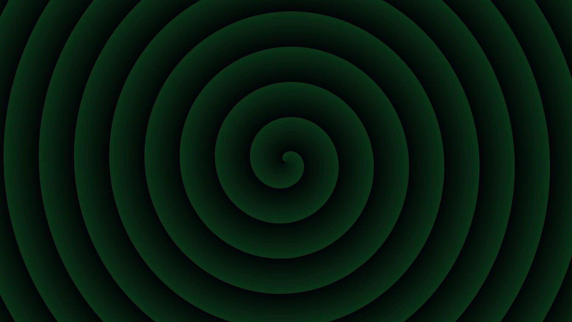 Green Spiral Wallpaper