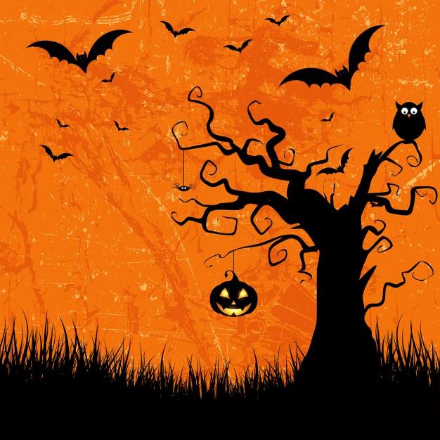 Grunge style Halloween Background