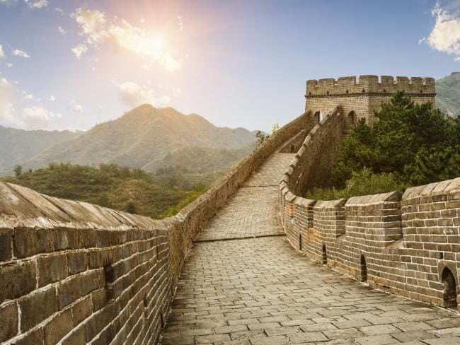 Big road Great Wall of China