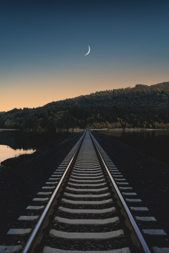 Beautiful Half Moon Image