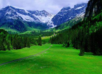 Natural Swiss Alps Wallpaper