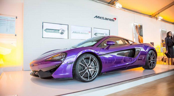 Purple McLaren MSO 570S