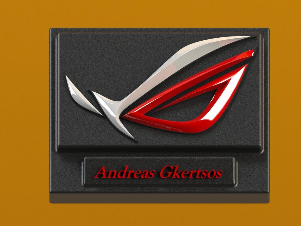 3d ASUS ROG logo