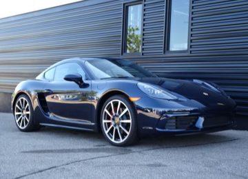 Blue Porsche 718 Cayman