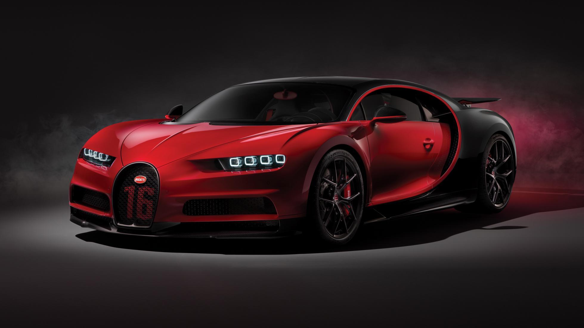 Colorful Bugatti Chiron Sport