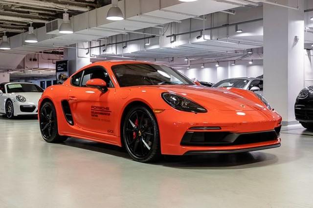 Orange Porsche 718 Cayman
