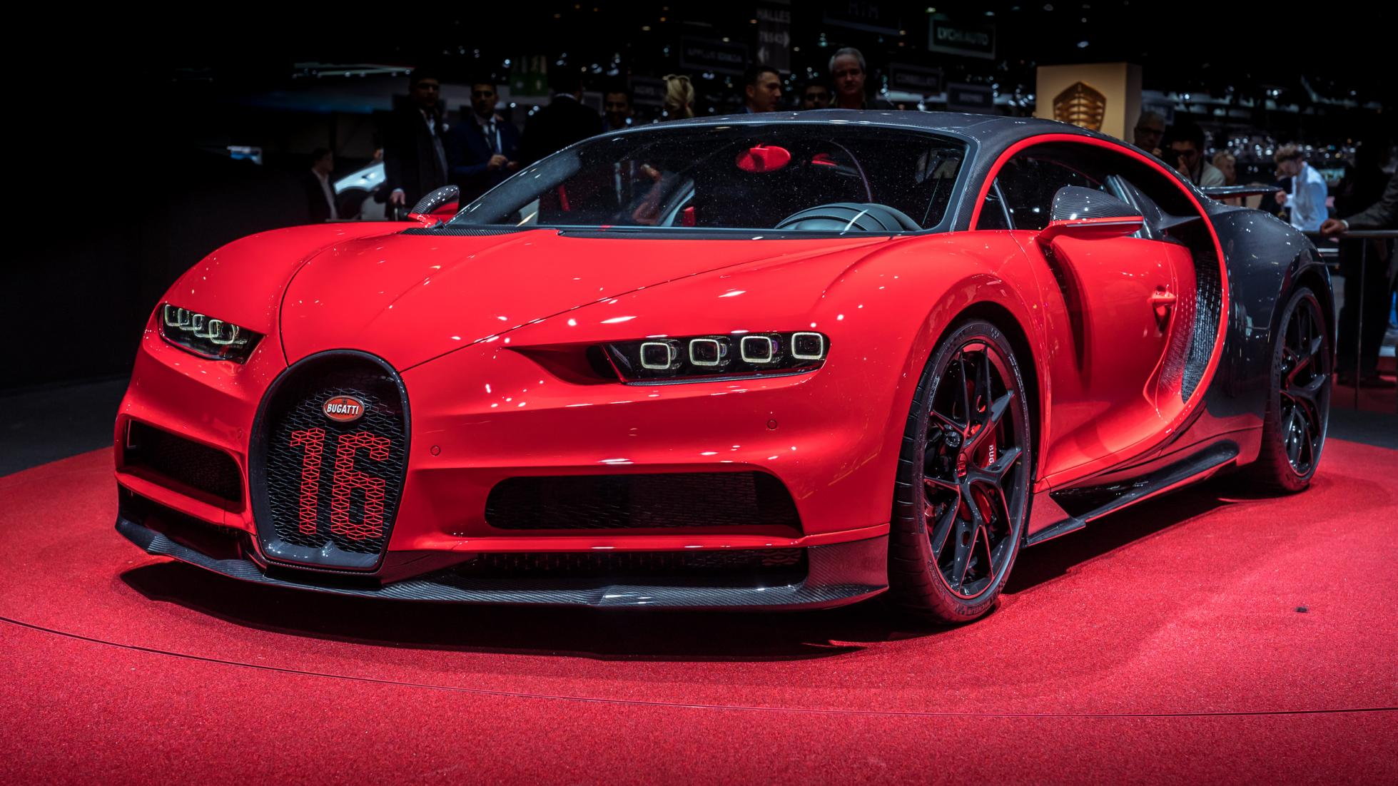 Red Bugatti Chiron Sport