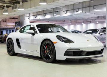 White Porsche 718 Cayman