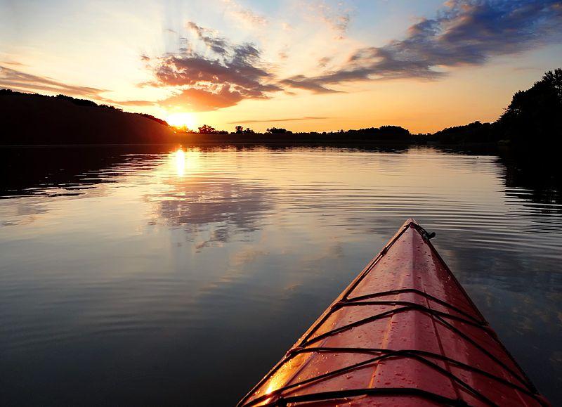 Amazing Sunset Lake