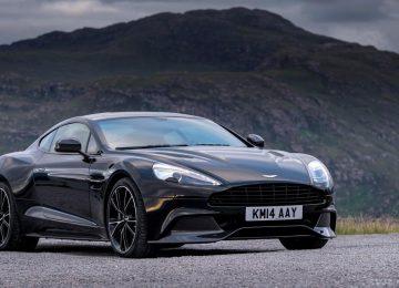 Black Aston Martin Vanquish