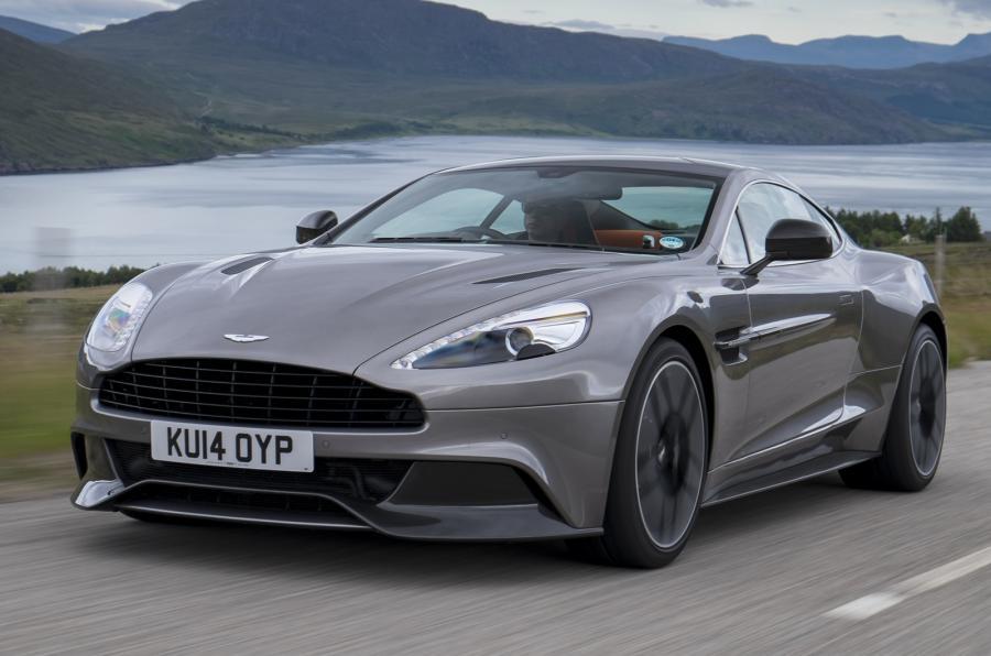 Grey Aston Martin Vanquish