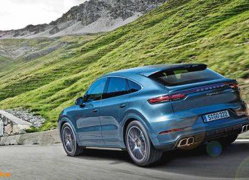 Blue Porsche Cayenne Coupe