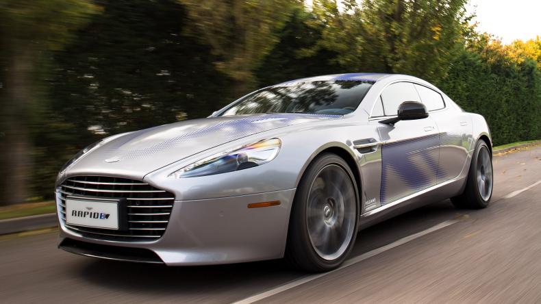 Grey Aston Martin Rapide E