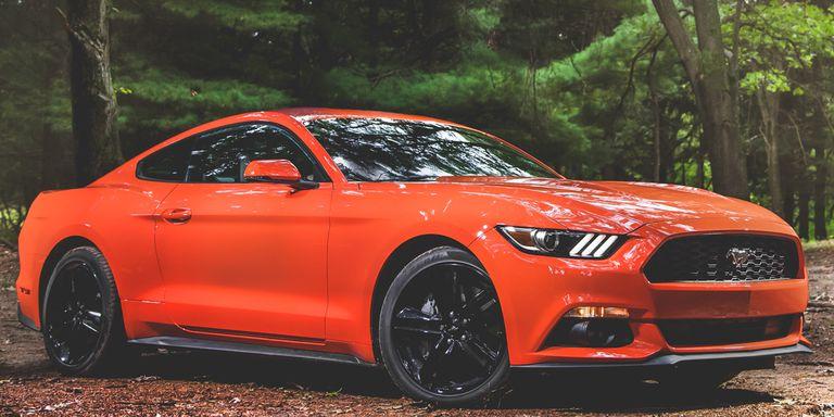 Orange Ford Mustang Ecoboost